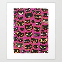 PINK CATS Art Print