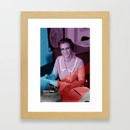 Women of NASA: Katherine Johnson Framed Art Print