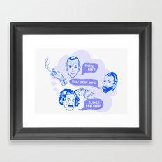 Clever Bastards Framed Art Print