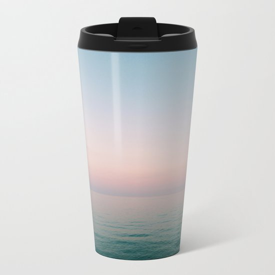 Pastel Ocean III Metal Travel Mug