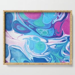 Pink Blue Marble 'Sarah' Serving Tray