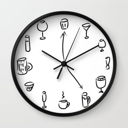 Watches, glasses and mugs Wall Clock