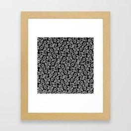 black and white swirls Framed Art Print