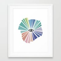 all seeing eye Framed Art Prints featuring All seeing eye  by Nobra