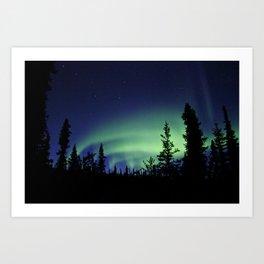 Aurora Borealis Landscape Art Print