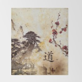 Tao Te Ching Throw Blanket