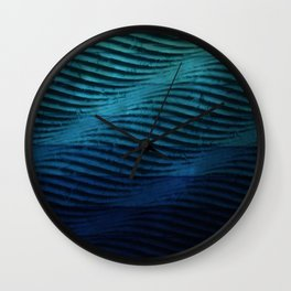Classic Blue Waves Wall Clock