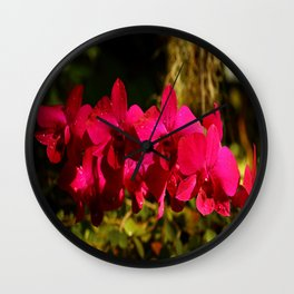 Lovely As An Orchid Wall Clock