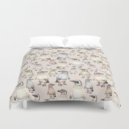 Penguins in sweaters Duvet Cover