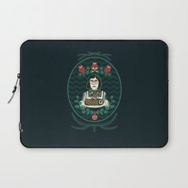 Yule Log Lady (in Green) Laptop Sleeve