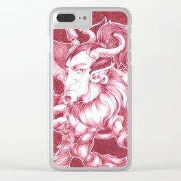 Demon Fantasy Warrior Clear iPhone Case