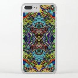 Paint Mandala 003 Clear iPhone Case