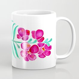 Blooming Orchid – Magenta & Mint Palette Coffee Mug