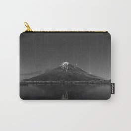 Snows of Volcano Black and White Photographic Art Print Carry-All Pouch