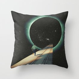 Escaping into the Void Throw Pillow