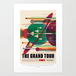 Grand Tour - NASA Space Travel Poster Art Print