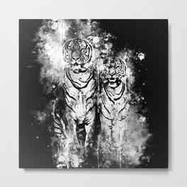 tiger couple wsbw Metal Print