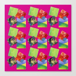 Painted Squares Jiggle - Pink Canvas Print