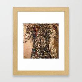 Electrified Cross-Contour Framed Art Print