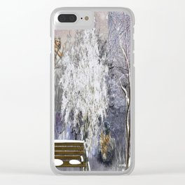 The Magic Of A Winter Day Clear iPhone Case