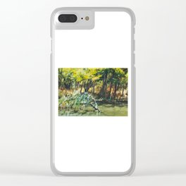River In Summer Clear iPhone Case