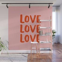 Love Love Love Wall Mural