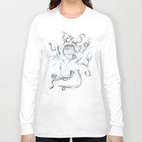 kraken Long Sleeve T-shirts featuring Kraken by Kyle Naylor