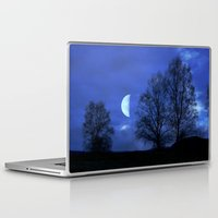 kindle Laptop & iPad Skins featuring Moon between Trees  - JUSTART © by JUSTART