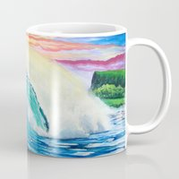 indonesia Mugs featuring  Surf Art  Indonesia by Surf Art Gabriel Picillo