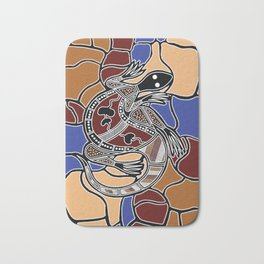 Aboriginal Art - Goanna (lizard) Dreaming Bath Mat