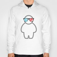 glasses Hoodies featuring glasses by Johannes Schulz