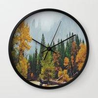 yosemite Wall Clocks featuring Yosemite by Warren Silveira + Stay Rustic