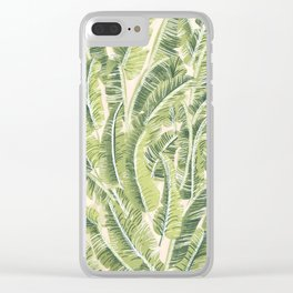 Banana Leaf Pattern Clear iPhone Case