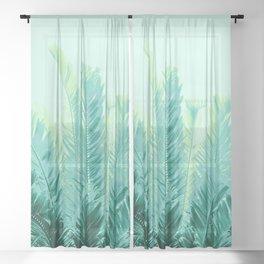 Tropical Leaves Dream #1 #tropical #decor #art #society6 Sheer Curtain