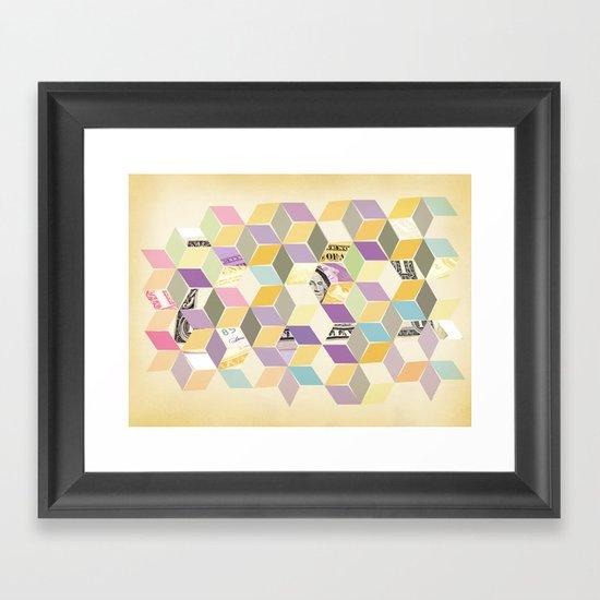 2 dollars Framed Art Print