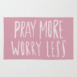 Pray More x Rose Rug