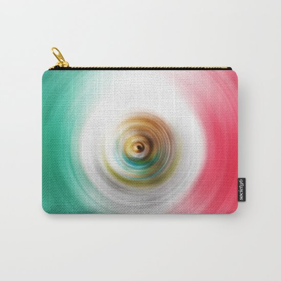 Green, White and Red Swirl Carry-All Pouch