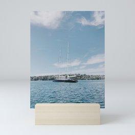 Nautical Boat in Sydney Harbor Mini Art Print
