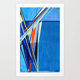 Blue Paint Art Print