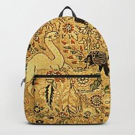 Antique Persian Tabriz Animal Rug Print Backpack