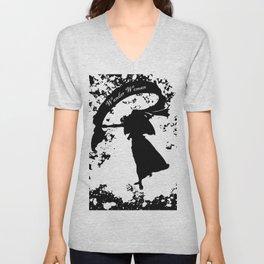 Wander Woman Splatter Unisex V-Neck