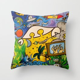 CRB in Outerspace Throw Pillow