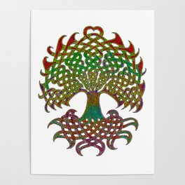 Celtic Knot Tree of Life Poster