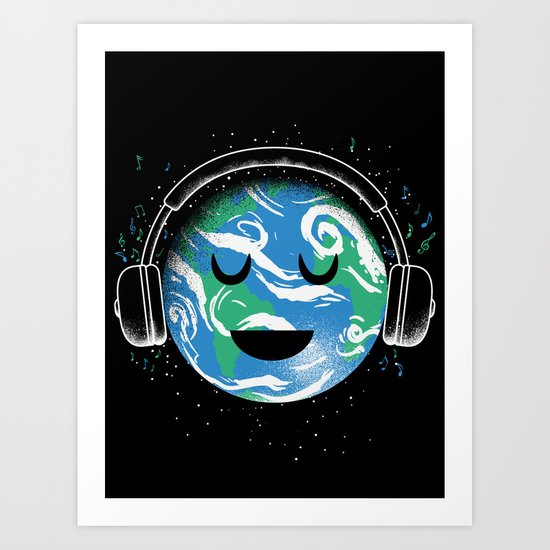 The whole planet loves music Art Print