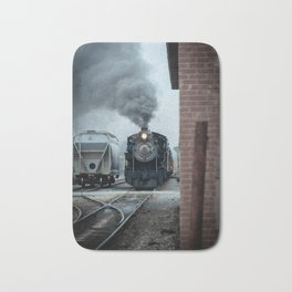 Strasburg Railroad Steam Engine #90 Vintage Train Locomotive Pennsylvania Bath Mat