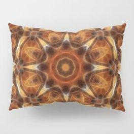Brown Tan Gold Kaleidoscope Art 9 Pillow Sham