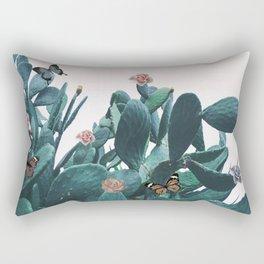 Cactus & Flowers - Follow your butterflies Rectangular Pillow