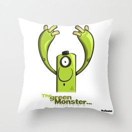THE GREEN MONSTER... Throw Pillow