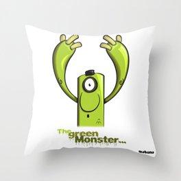 THE GREEN MONSTER... Throw Pillow