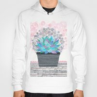 succulent Hoodies featuring succulent by Asja Boros